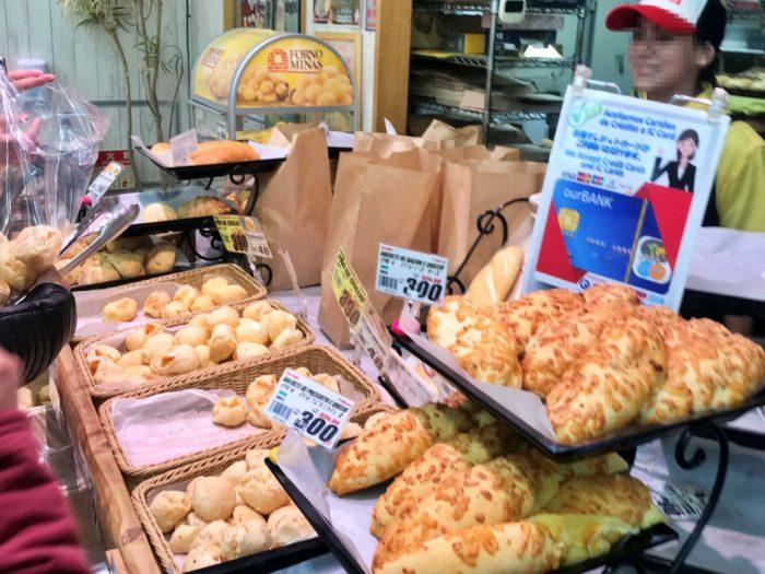 人気のパンコーナー