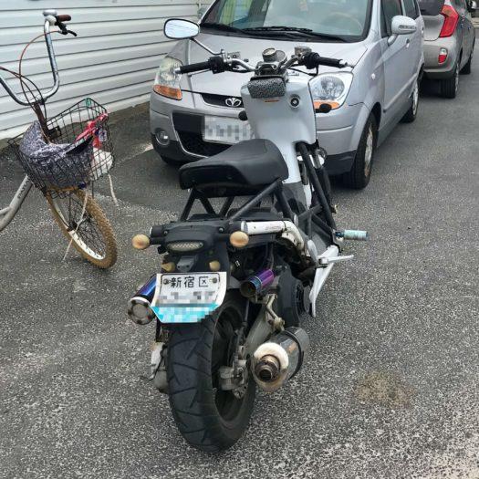 新宿ナンバーのバイク