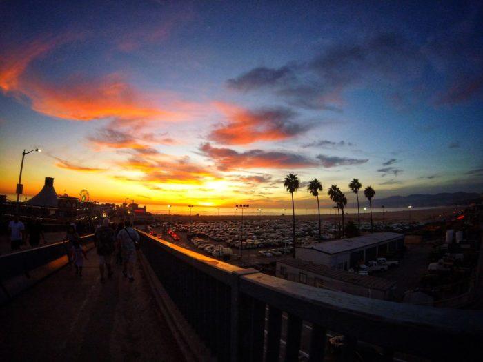 桟橋からの夕陽