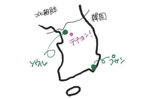 テチョンはソウルのすぐ近くmap