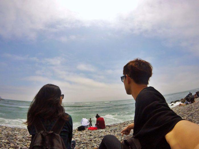 ミラフローレスビーチの海岸