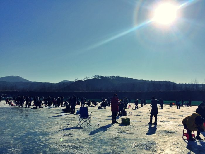 氷上釣り会場の全体図