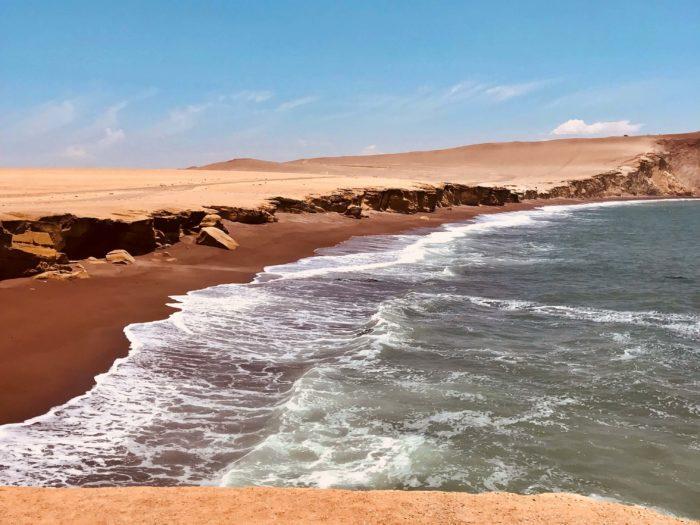 浸食されている海岸