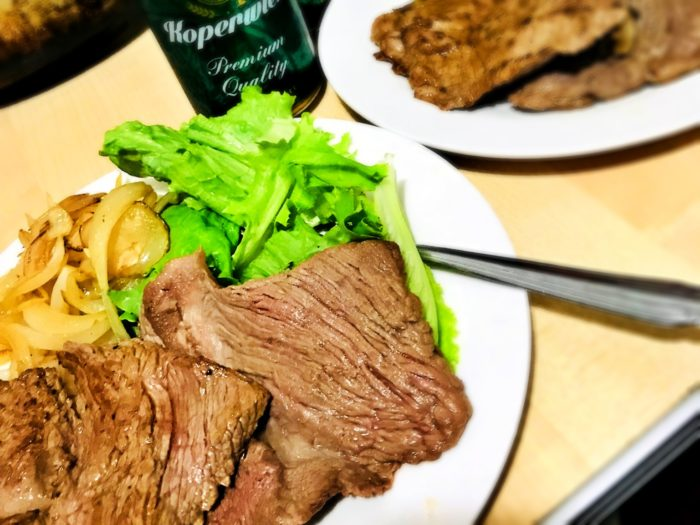 ダイナミックなお肉を買って調理しました。