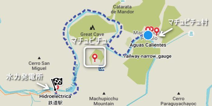 マチュピチュ山を一周するルート