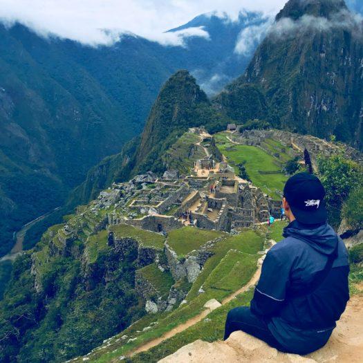 高台から眺めたマチュピチュの景色