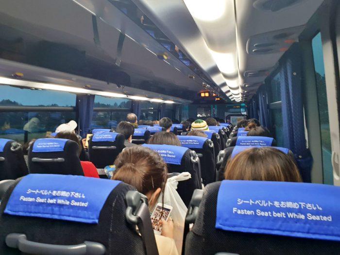 茨城空港→東京駅の車内