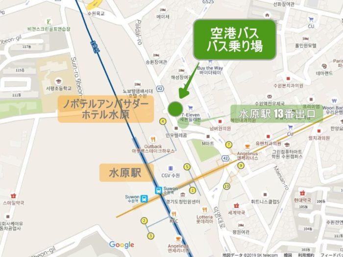 水原駅 バス乗り場
