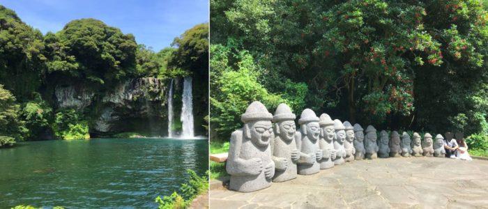 済州島定番観光地の滝