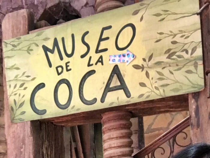 コカ博物館の看板