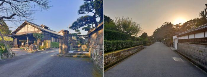 飫肥の城下町風景(夕暮れ)