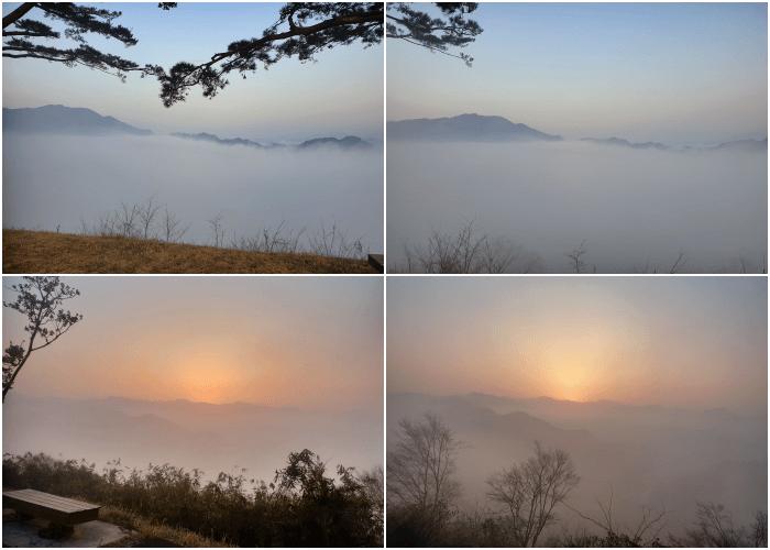国見ケ丘からの日の出1