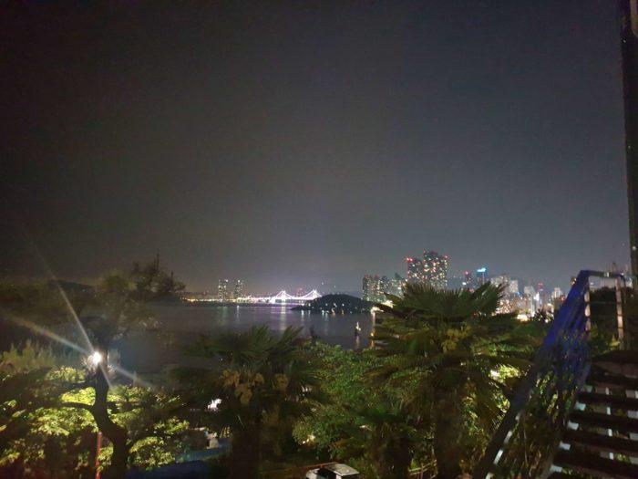 駐車場からの広安大橋ライトアップ