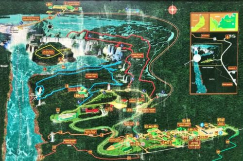 イグアスの滝 地図