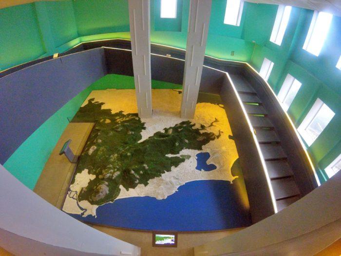 リオの地形模型