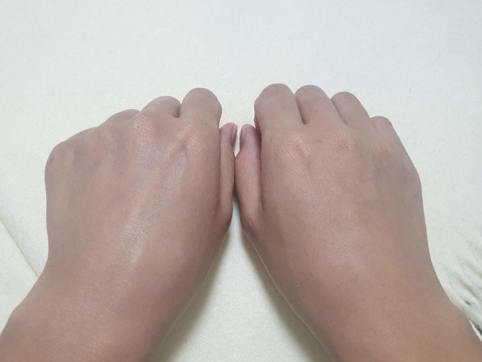 右手と左手の比較