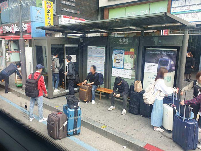 水原駅のバス乗り場
