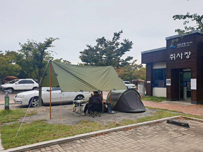 C1サイトのテント