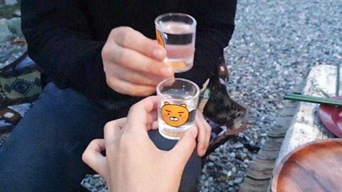 ソジュで乾杯