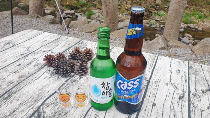 ビール1 ソジュ1