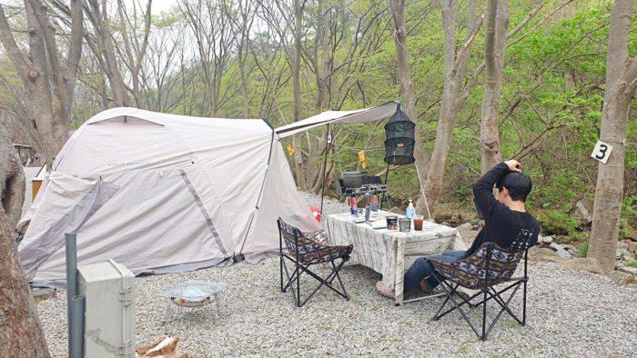 3番サイト(T3)とテント
