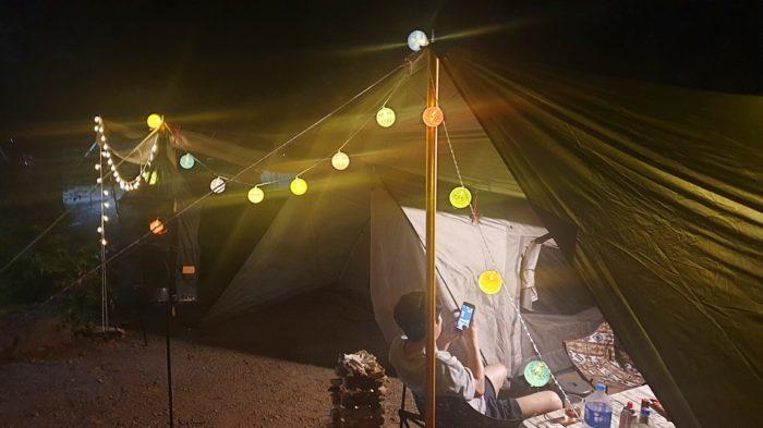 テントのライトアップ