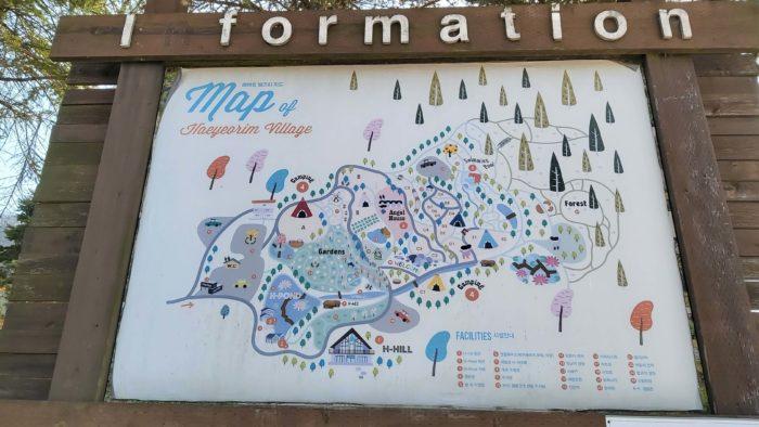 キャンプ場の地図