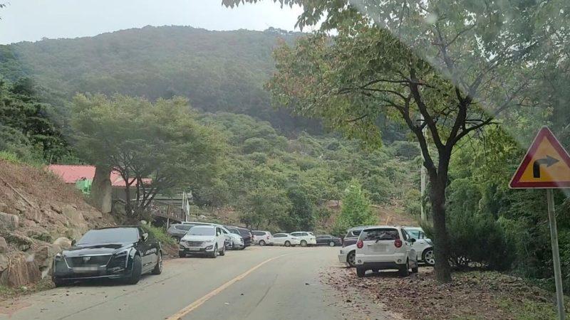 栗農園は路上駐車