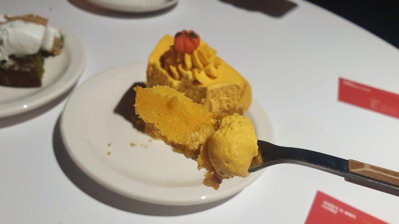 かぼちゃケーキ一口