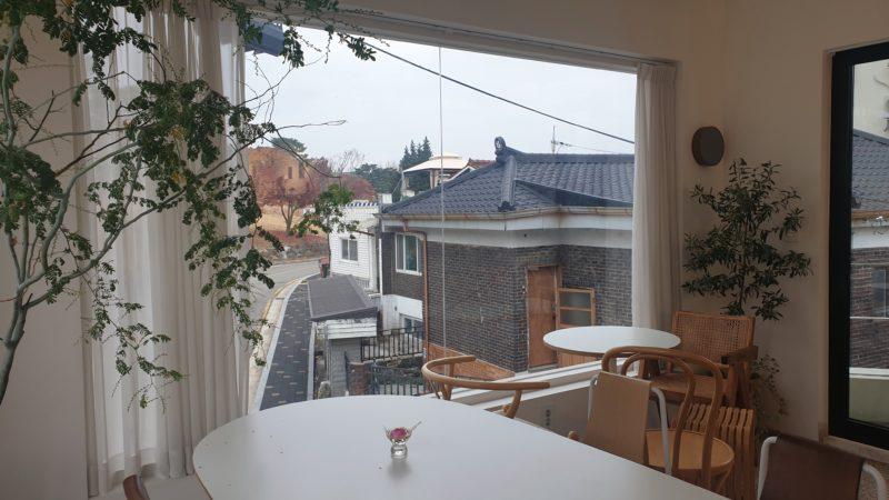 2階からの華城の眺め