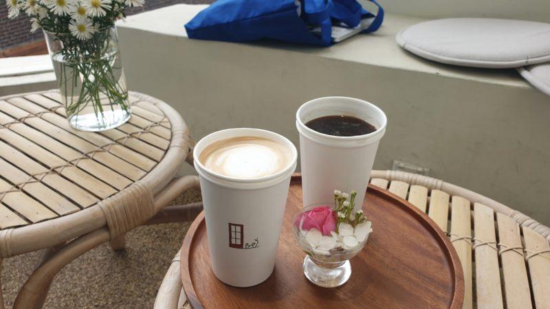 アメリカーノとカフェラテ